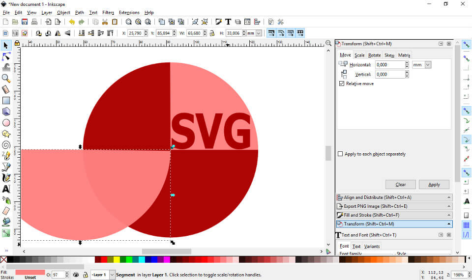 Inkscape, free vector graphics editor