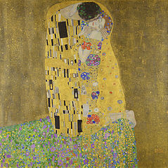Gustav Klimt, The Kiss, 1908